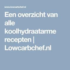 Een overzicht van alle koolhydraatarme recepten | Lowcarbchef.nl