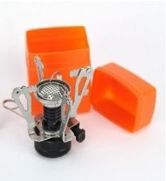 $10.00 Ultralight Backpacking Canister Camp Stove with Piezo Ignition 3.9oz! 1/4 the cost of the pocket rocket!