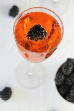 Blackberry Kir Royale from Miss in the Kitchen