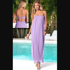 Light Purple Chiffon Maxi Dress *Worn Once*