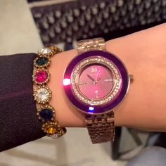 Personality Rhinestone-studded Women's Watch – Wedding Centerpieces Stylish Watches, Cool Watches, Watches For Men, Luxury Watches, Popular Watches, Women's Watches, Casual Watches, Sport Watches, Silver Pocket Watch