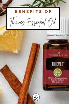 Thieves oil is a powerful Young Living blend that I love! It has immune supporting properties among other amazing benefits. Young Living Thieves Oil, Young Living Oils, Young Living Essential Oils, Essential Oils 101, Thieves Essential Oil, Essential Oil Blends, Natural Cures, Natural Health, Thieves Spray