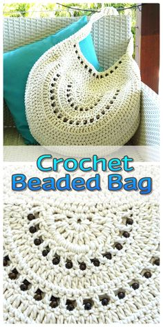 Crochet beaded bag with natural wooden beads made to order in a colour of your choice. Bead options also available.
