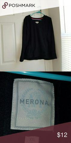 Black sweater **smoke free & pet free household**  Has been worn Good condition Merona Sweaters Crew & Scoop Necks