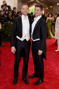 Neil Patrick Harris, David Burtka - The Cut, met gala 2015, The pair wore matching white tie and tails looks