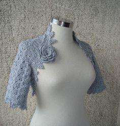 Baby Blue Bolero crochet inspiration
