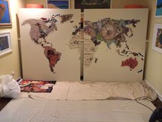 Do it yourself statement diy artwork art pieces and artwork ever had a wall so big you couldnt find a piece of art worthy of hanging heres how to make your own statement art piece solutioingenieria Gallery