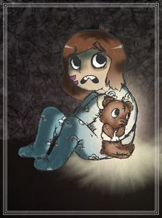 Baby Zoey and Teddy from Yogscast Zoey's series: Among The Sleep