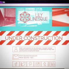 And the website is live! (Sort of...) It's still under construction but there's at least a simple landing page for now. Feel free to check it out! LilyLinesque.com #graphicdesign #underconstruction