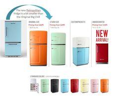 "Exclusive: Big Chill introduces the new ""Retropolitan"" refrigerator w/bottom freezer - Retro Renovation"