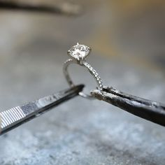 From initial design to the final workmanship, Blue Nile stands behind every ring | #Jewelry #EngagementRing #Wedding