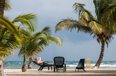Chilling on the beach at South Water Caye.