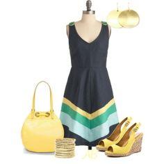 Navy Striped Dress :) by nikkie246