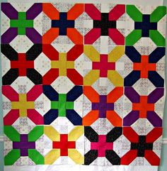 Ariane Quilts, Japanese x and +, 10 inch block