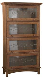 Amish Furniture - Hand Crafted Shaker and Mission Barrister Bookcase: Cherry
