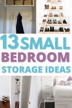 Increase your small bedroom storage and get organization tips with these organizing ideas. Simple, cute and very practical. #storage #organize #bedroom Tumblr Bedroom Decor, Red Bedroom Decor, Vintage Bedroom Decor, Simple Bedroom Decor, Bedroom Decor For Teen Girls, Ikea Bedroom, Small Bedroom Ideas On A Budget, Small Bedroom Storage, Bedroom Organization Diy