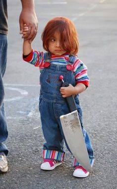 omg childs play chuckie good guy doll halloween costume - Good Guys Halloween Costumes