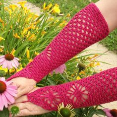 Crochet gloves