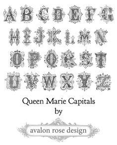 Queen Marie Capitals Font
