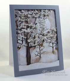 Check out the deal on Tree Frame at Impression Obsession Rubber Stamps Stamped Christmas Cards, Christmas Cards To Make, Xmas Cards, Winter Christmas, Handmade Christmas, Holiday Cards, Winter Snow, Greeting Cards, Impression Obsession Cards