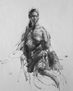 """Saatchi Art Artist Zin Lim; Drawing, """"ALLEGRO no.40"""" Charcoal on paper"""
