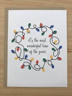 It's The Most Wonderful Time of The Year, Christmas Lights Card, Cute Christmas Cards, Cute Holiday Cards, Funny Christmas Cards Christmas Cards Drawing, Cute Christmas Cards, Diy Holiday Cards, Christmas Card Crafts, Homemade Christmas Cards, Xmas Cards, Christmas Humor, Homemade Cards, Handmade Christmas