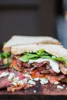 Steak and Blue Cheese Sandwich
