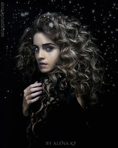 An actually accurate depiction of Hermione Granger. In the books, her hair was frizzy and curly. Hermione Granger Art, Hermione Fan Art, Harry And Hermione Fanfiction, Snape And Hermione, Harry Potter Hermione, Harry Potter Characters, Severus Snape, Harry Potter Artwork, Harry Potter Ships