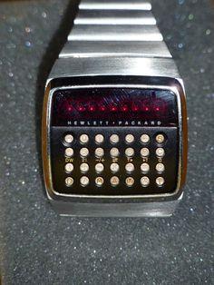 Hewlett Packard, HP-01, first calculator watch.