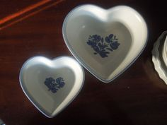 Pfaltzgraff YORKTOWNE (MADE IN USA) Heart  Bowls 2 sizes