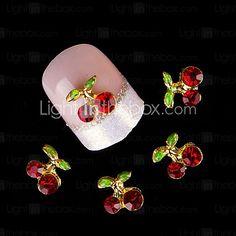 10Pcs/Set Nail Supplies Cherry Stones 3D Nail Art Decoration Crystal Rhinestone For Nail Alloy Glitters DIY - USD $3.99
