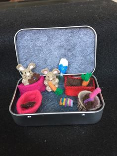 Itty Bitty Maties- Bunnies - My whole life in a tin by MatiesMeadow on Etsy https://www.etsy.com/listing/235162471/itty-bitty-maties-bunnies-my-whole-life