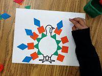 Pattern block turkeys
