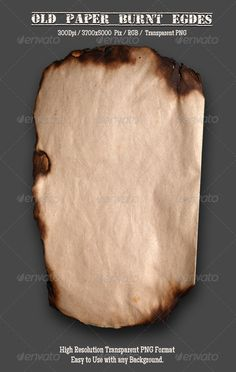 Burnt Old Paper 1 #GraphicRiver Burnt Old Paper This Item is Suitable for – old, paper, grunge, background, antique, brown, ancient, aged, parchment, texture, vintage, blank, page, abstract, retro, dirty, cardboard, yellow, rough, crumpled, material, damaged, pattern, empty, burnt, surface, textured, grungy, weathered, rustic, scratched, frame, sheet, scrapbook, stained, torn, art, obsolete, ragged, sepia, ripped, stains, wall, stain, journal, element, artistic, book, document, closeup…