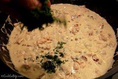 Παπαρδέλες με καπνιστό σολομό ⋆ Cook Eat Up! Camembert Cheese, Risotto, Dairy, Ethnic Recipes, Food, Essen, Meals, Yemek, Eten
