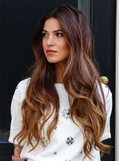 Balayage hair color ideas to give a new look. Top Balayage hairstyles for natural dark long black hair. Blonde and dark hair color ideas. Balayage hairstyle ideas for longer dark hair color. Top best hairstyles with dark black hair color ideas. Ombré Hair, New Hair, Hair Bow, Hair Styles 2016, Long Hair Styles, Long Wavy Hair, Long Curly, Brown Hair Colors, Light Auburn Hair Color
