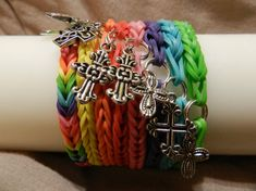 Simple fishtail patterned rubber band bracelets of by CSayago91, $3.00