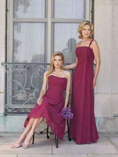 Chiffon Strapless Asymmetrically Ruched Bodice A-line Bridesmaids Dress