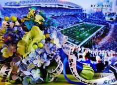 Seattle Seahawks Wedding 12th Man Bouquet Super Bowl 49 Lady12's GO HAWKS!