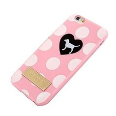 "SuperBZ Apple iPhone 6 Plus Classic Stripe Case,Replacement Victoria Secret PINK Classic Stripe Skin Silicone Case Cover for Apple iPhone 6 Plus 5.5""(Not iPhone 6 4.7""Version)"