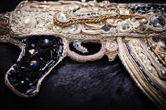 Kalashnikov AK 47 Bling-Bling I   Peacemaker Collection SVW unique* selected* handcrafted #fine #art #kalashnikov #handcrafted #embroidery #swarovski