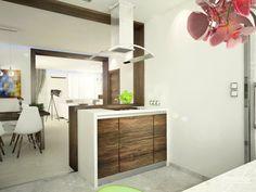 Drevená kuchynská linka - Interiér domu s použitím prírodných materiálov