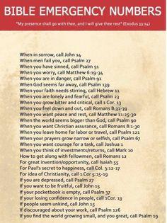 Bible Emergency Numbers