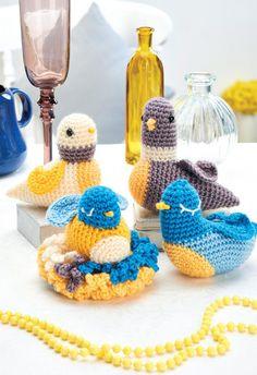 FREE PATTERN: crochet bird family