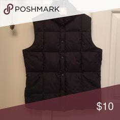 Lands end vest Down vest. Excellent condition. Button front with pockets. Lands' End Jackets & Coats Vests