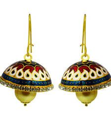 Meenakari enamelling work, Easy-to-maintain, Push-back closure type, Premium quality at low cost, The actual size of earring may differ from the image