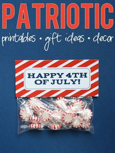 Patriotic themed printables, gift ideas, home decor, and so much more!! #4thofjuly #printables #holidays #decor