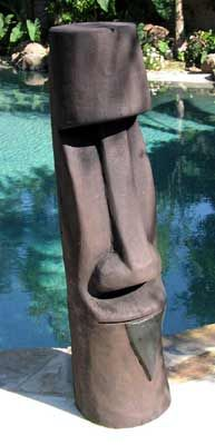 Moai tiki at the pool