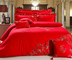 Red Bedding Sets King Size - Home Furniture Design Red Bedding Sets, King Size Bedding Sets, Cheap Bedding Sets, Wedding Bed, Home Furniture, Furniture Design, Indoor Outdoor Furniture, Bed Covers, Bed Sheets