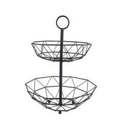 An attractive, elegant tiered fruit basket to store your fruit, eggs, and anything else in style. Tidy Kitchen, Kitchen Styling, Tiered Fruit Basket, Lighting Sale, Sofa Sale, Chairs For Sale, Mid Century Design, Dining Room Table, Matte Black